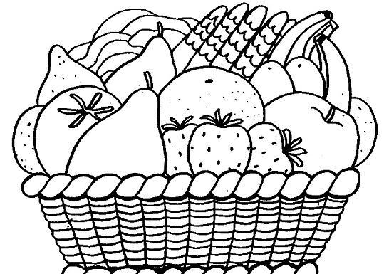 Canasta de frutas para colorear vacia - Imagui